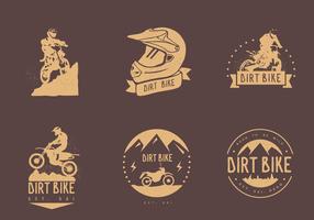 Vecteurs de logo vintage de Dirt Bike vecteur