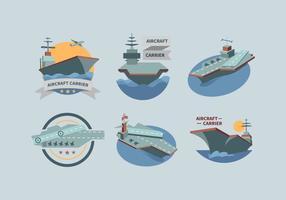 Ensemble vectoriel de porte-avions