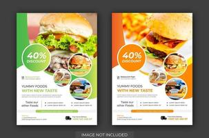 ensemble de flyers gratuits pour burger shop