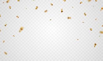 conception de célébration de confettis dorés vecteur