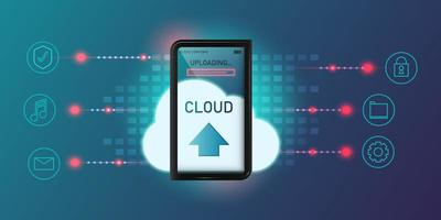 conception de technologie de cloud computing vecteur