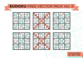 Sudoku pack vectoriel gratuit vol. 5