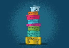 Vecteurs de valises colorés