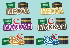 Titres de la Mecque vecteur