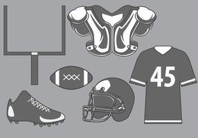 Vector d'équipement de football