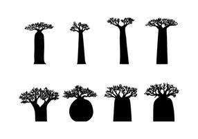 Vecteur silhouette baobab