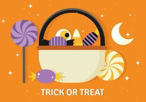 Seau de vecteur Halloween gratuit