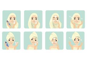 Vecteur de toner de visage féminin gratuit