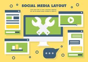 Vector de mise en page des médias sociaux