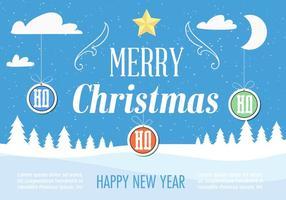 Paysage Noël Noël Gratuit vecteur