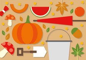 Éléments plats d'automne plats gratuits