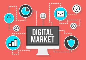 Vecteurs du marché numérique vecteur