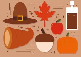 Décoration vectorielle gratuite de Thanksgiving