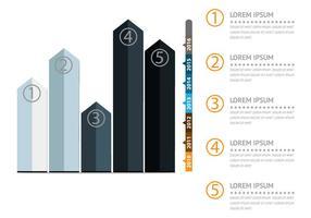 Infographie avec illustration de conception de diagramme de courbes