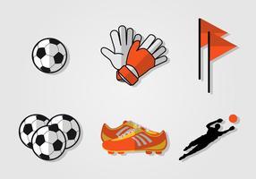 Ensemble de vecteur Goal Keeper