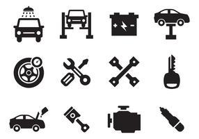 Vecteur gratuit d'icônes de maintenance de voiture