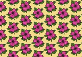 Modèle de fleur rose