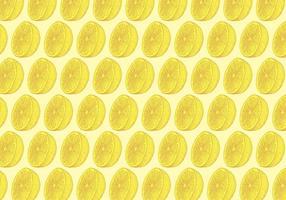 Motif de citron jaune vecteur