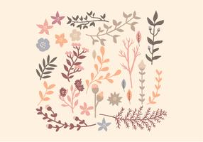 Éléments floraux vectoriels
