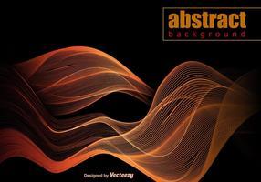 Vecteur orange modèle d'onde abstraite
