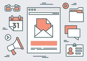 Vecteurs d'éléments de site Web linéaires durables