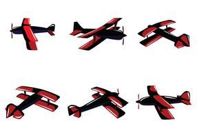 Red Biplan Vector