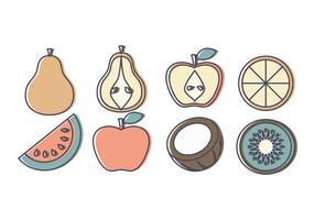 Collection de fruits vectoriels vecteur