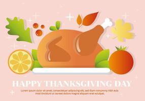 Libre vecteur thanksgiving turquie