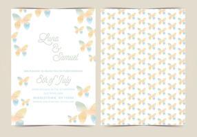 Marguerite Vector Wedding Invite