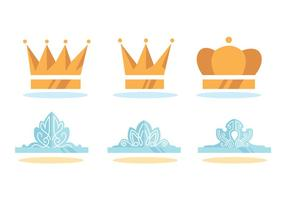 Ensemble de vecteur de couronne de pageant