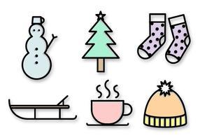 Vecteur d'icônes de Noël gratuit