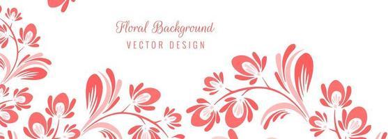 belle bannière florale décorative vecteur