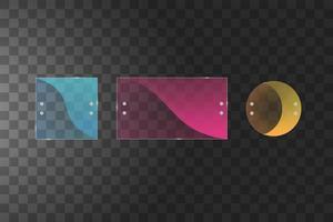 plaques de verre colorées sur transparence