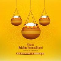 conception de pot suspendu heureux janmashtami