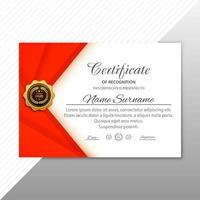 prix du certificat d'appréciation créatif à angle rouge