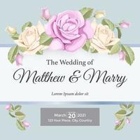 Élément d'invitation de mariage rose élégant