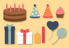 Vecteur libre d'éléments d'anniversaire