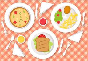 Vecteur de déjeuner gratuit