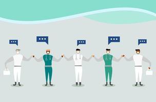 équipe de médecins et d'infirmières en uniforme