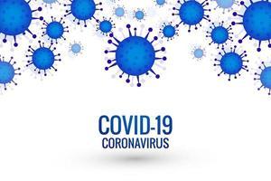 frontière de cellule de coronavirus covid-19 vecteur
