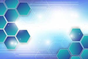 hexagones flottants sur la conception de la technologie