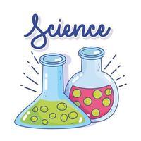 Science chimie tube à essai laboratoire de recherche de fluide bécher vecteur
