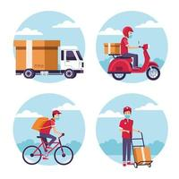 ensemble de service de livraison