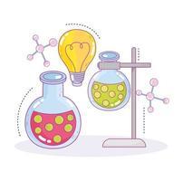 Laboratoire de recherche d'innovation d'échantillons de tubes à essai de pratique scientifique