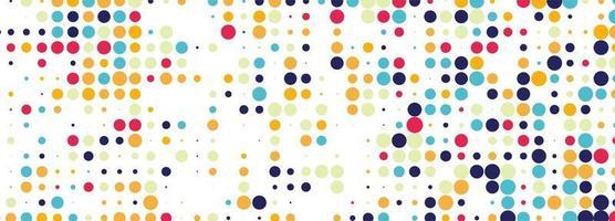 conception abstraite de bannière en pointillé coloré