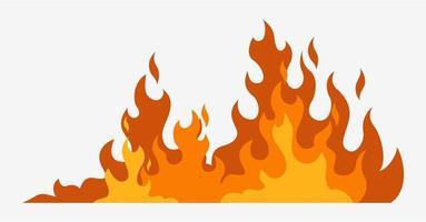 ligne rouge chaude de danger d'incendie vecteur