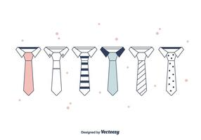 Cravat set vector