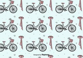 Bicyclettes et motif d'arc vecteur