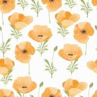 motif de fleur de pavot aquarelle
