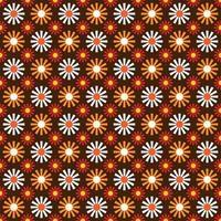 motif de fleur de fleur mod orange et marron vecteur